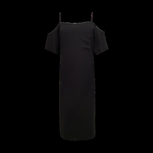 Alexander Wang Black Cold Shoulder Dress