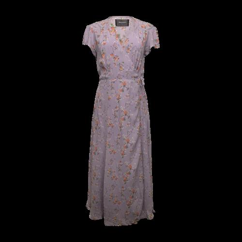 "Reformation Lavender ""Carina"" Midi Wrap Dress"