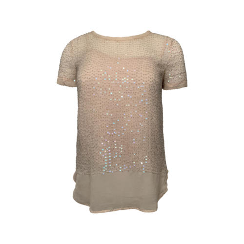 DKNY Pink Sequin Top w/ Cami