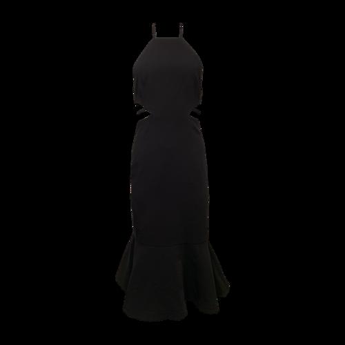 Cinq à Sept Black Side Cut-Out Dress w/ Mermaid Skirt