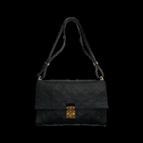 Louis Vuitton Navy Blue Infini Monogram Empreinte Leather Fasciante Bag