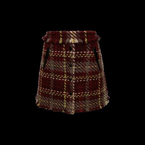 "Ramy Brook ""Elias"" Plaid Tweed Skirt"