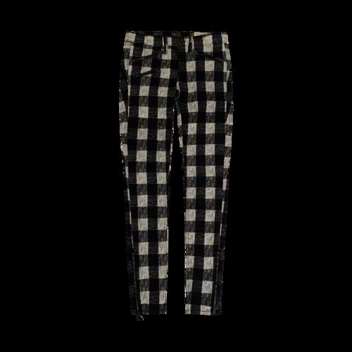rag & bone Black and White Checkerboard Printed Jeans