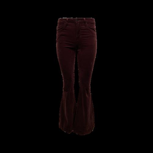J Brand Velvet Flare Jeans in Deep Mulberry