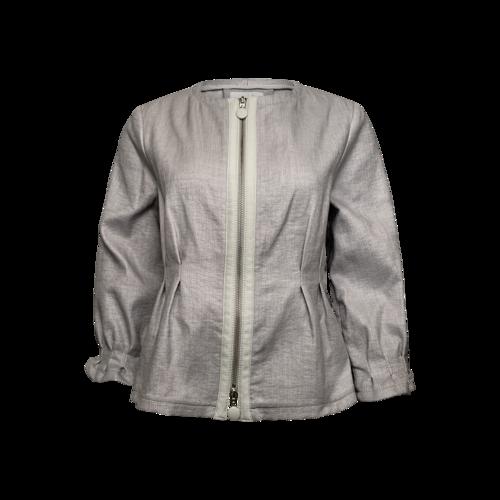 Giorgio Armani Grey Front Zip Jacket