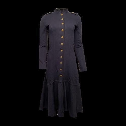 Ralph Lauren Navy Blue Cotton Military Coat