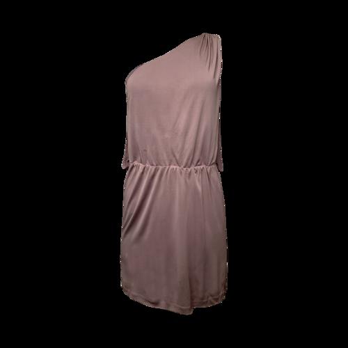 Halston One Shoulder Lavender Dress