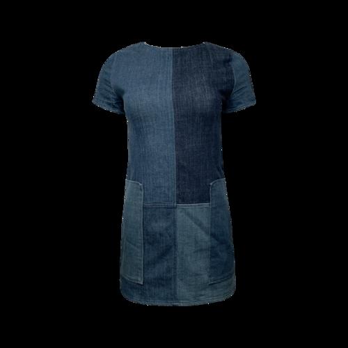 J Brand Patchwork Denim Dress