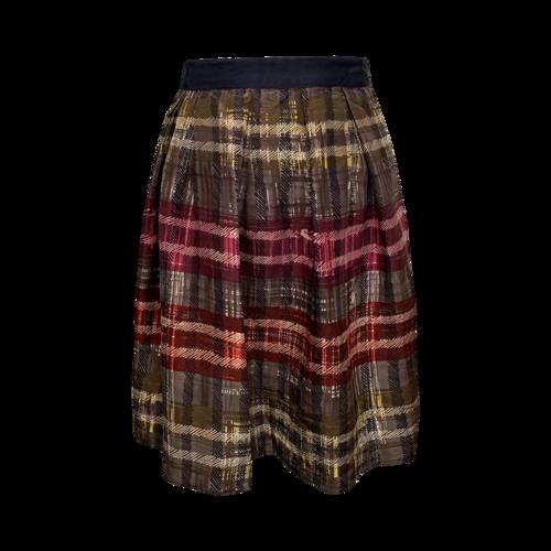Trina Turk Abstract Plaid Print Skirt