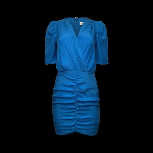 Amanda Uprichard Teal Front Ruched Dress