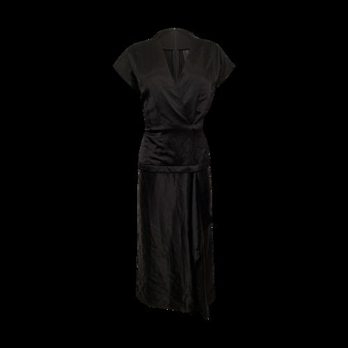 Zero + Maria Cornejo Black Midi Dress