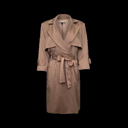 Halston Beige Trench Coat