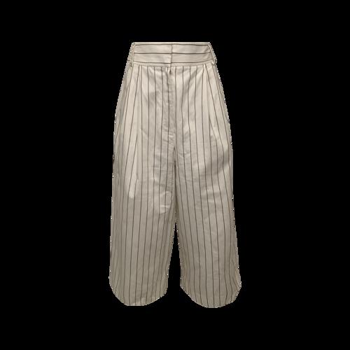 Tibi White Pinstripe Wide Leg Pants
