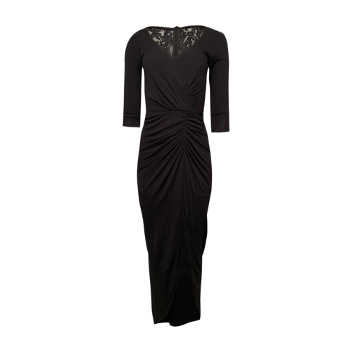 David Meister Black Gown w/ Lace and Sequin Back