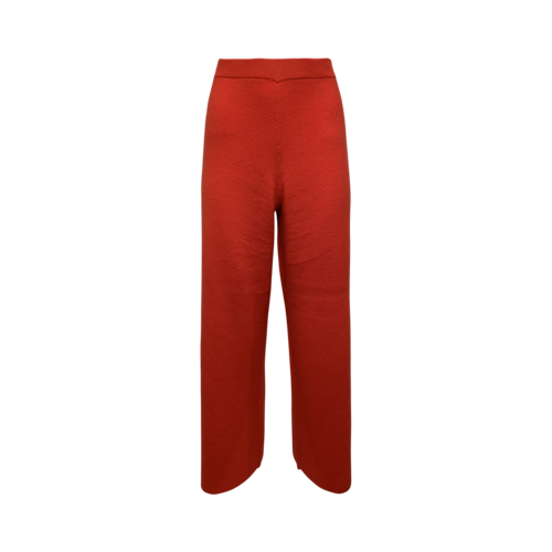 Red Cashmere Knit Pants