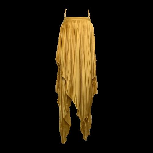 "Acler Yellow ""Cedar"" Pleat Dress"