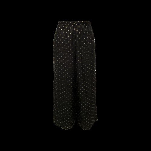 Vintage Black and Gold Polka Dot Palazzo Pants