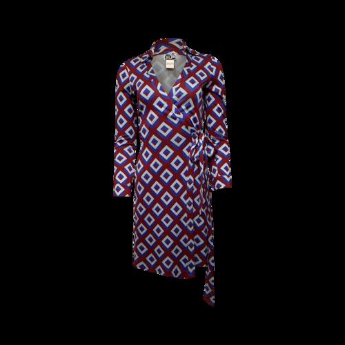 """Diane von Furstenberg """"New Jeanne"""" Print Wrap Dress"""