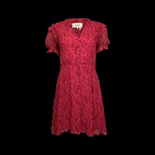 ba&sh Pink Button Front Floral Dress