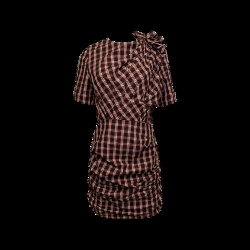Isabel Marant Ruched Plaid Dress