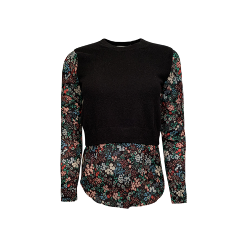 Veronica Beard Floral Vest Blouse