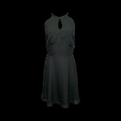 Parker Cacti Green Keyhole Halter Dress