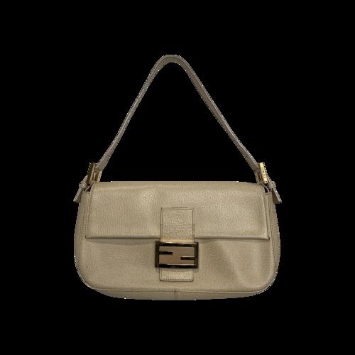 Fendi Beige Leather Baguette Bag