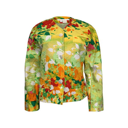 Perry Ellis Multi-Color Print Blazer