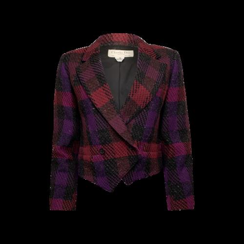 Dior Cropped Plaid Jacket