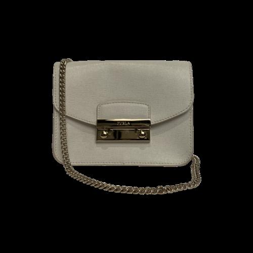 Furla Cream Metropolis Mini Crossbody Bag