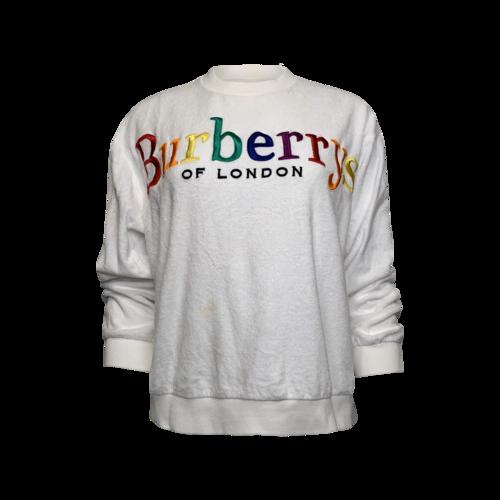 Burberry White Logo Sweatshirt