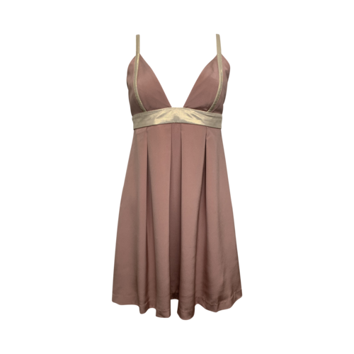 Jay Godfrey Pale Pink and Gold Silk Dress