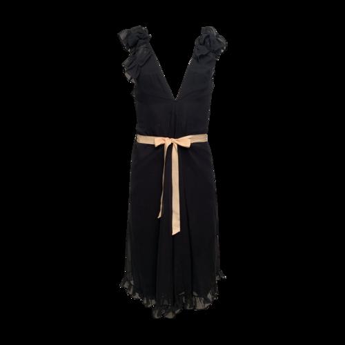 Jill Stuart Black Ruffle Dress