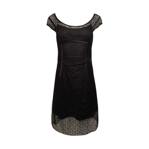 Louis Vuitton Black Lace Dress w/ Satin Slip