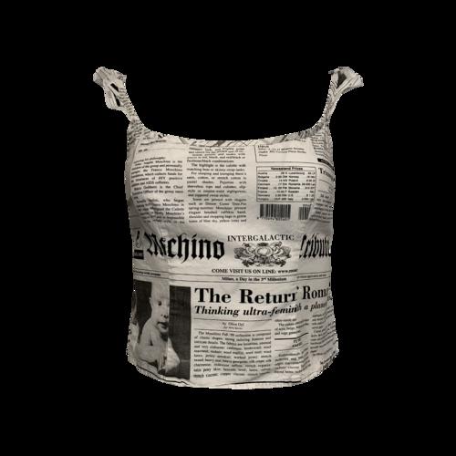 Moschino Newsprint Crop Top
