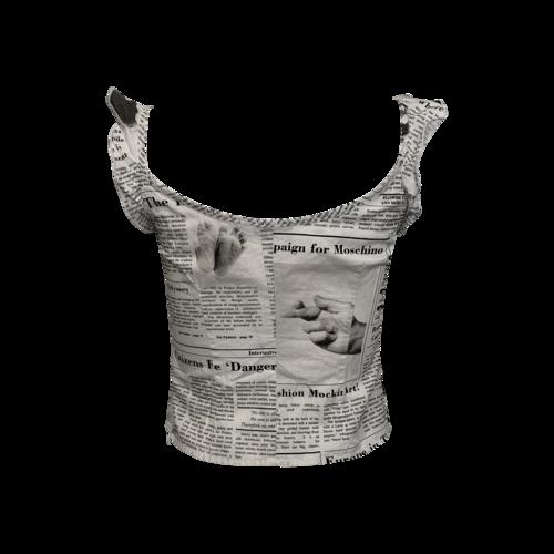 Newsprint Crop Top