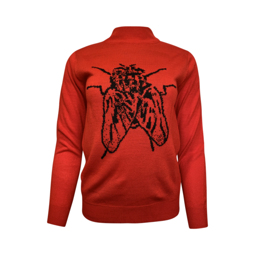 Ashley Williams Red Insect Sweater