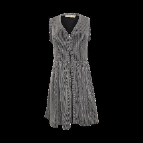 Sandro Paris Front-Zip Fishnet Dress