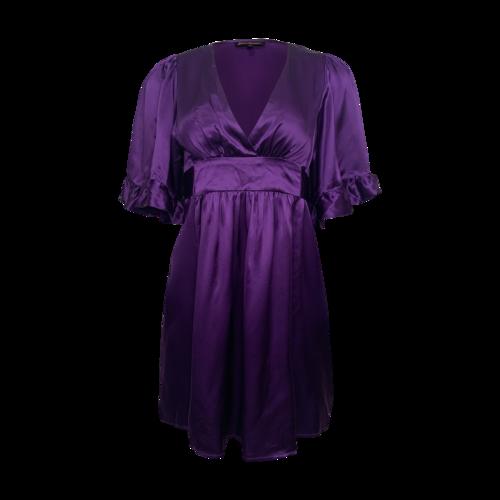 Betsey Johnson Purple Silk Tie-Back Dress