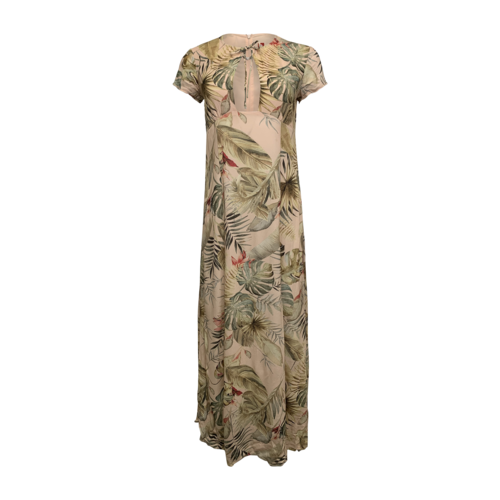STAUD Palm Tree Keyhole Maxi Dress