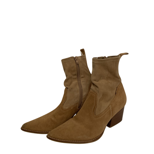 Matisse Flash Natural Suede Leather Pointed Mid-Calf Boots
