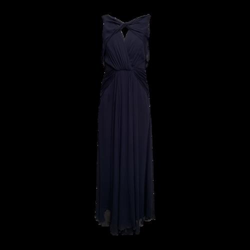 "Badgley Mischka Navy Blue ""Petunia"" Open Back Gown"