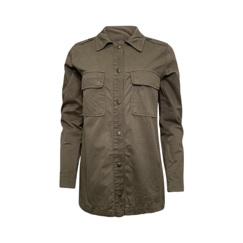 Anine Bing Army Green Button Front Shirt