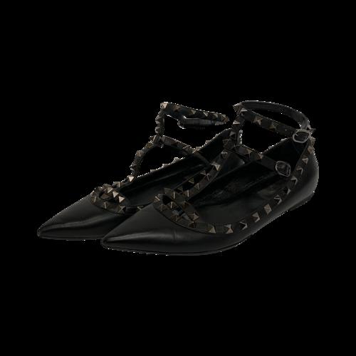 Valentino Black Rockstud Flats