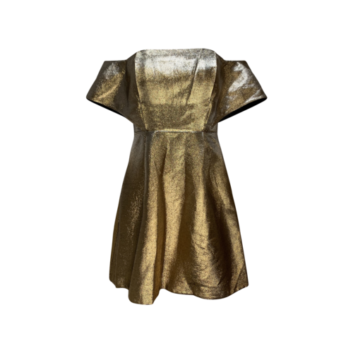Sandro Paris Off-the-Shoulder Shimmer Dress