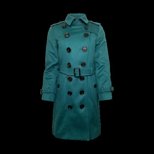 """Burberry """"The Sandringham"""" Coat in Kelly Green"""
