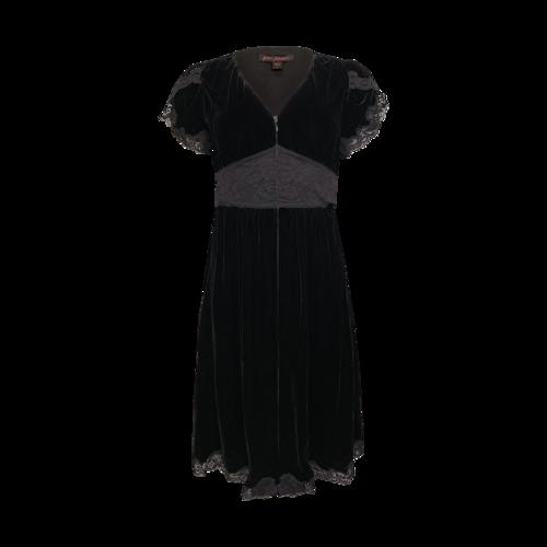 Betsey Johnson Black Velvet and Lace Dress