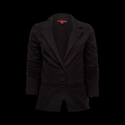 Betsey Johnson Back Ruffle Black Cotton Jacket