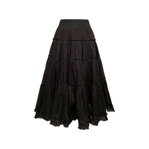 Betsey Johnson Black Tiered Ruffle Skirt