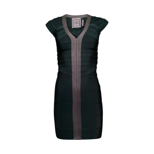 Herve Leger Hunter Green Bandage Dress